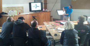 Darwin Boomerangs en formation animateur fédéral à Sisteron en 2016